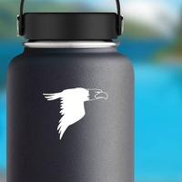 Eagle In Flight Sticker on a Water Bottle example