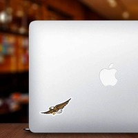 Eagle Mascot Sticker on a Laptop example