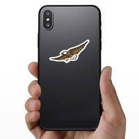 Eagle Mascot Sticker on a Phone example