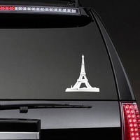 Eiffel Tower Sticker on a Rear Car Window example