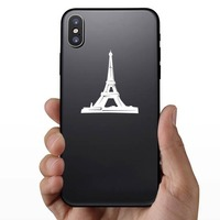 Eiffel Tower Sticker on a Phone example