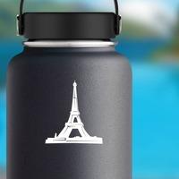 Eiffel Tower Sticker on a Water Bottle example