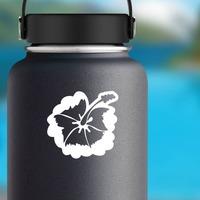 Elegant Hibiscus Flower Sticker on a Water Bottle example