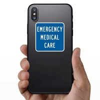 Emergency Medical Care Sticker on a Phone example