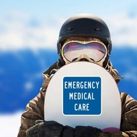 Emergency Medical Care Sticker on a Snowboard example