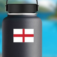 England Flag Sticker on a Water Bottle example