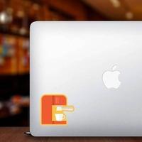 Espresso Machine Sticker on a Laptop example