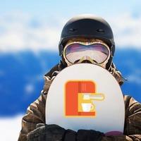 Espresso Machine Sticker on a Snowboard example