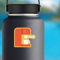 Espresso Machine Sticker on a Water Bottle example