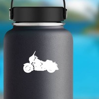 Exciting Motorcycle Sticker on a Water Bottle example