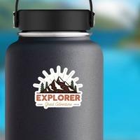 Explorer Great Adventure Sticker on a Water Bottle example