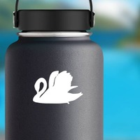 Exquisite Swan Sticker on a Water Bottle example