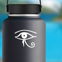 Eye Of Horus Sticker on a Water Bottle example