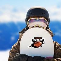 Fantasy Football Sticker on a Snowboard example