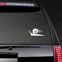 Fast Snail Sticker on a Rear Car Window example