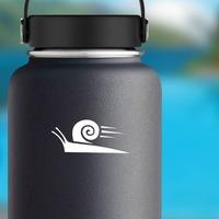 Fast Snail Sticker on a Water Bottle example