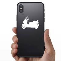 Fearless Motorcycle Sticker on a Phone example