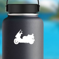 Fearless Motorcycle Sticker on a Water Bottle example