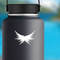 Feather Wings Sticker on a Water Bottle example