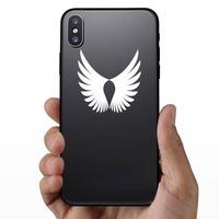 Feathered Bird Wings Sticker on a Phone example
