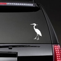 Feathered Crane Sticker on a Rear Car Window example