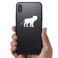 Female Lion Sticker on a Phone example