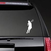 Female Tennis Player Sticker on a Rear Car Window example