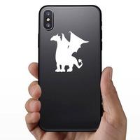 Fierce Dragon Sticker on a Phone example