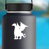 Fierce Dragon Sticker on a Water Bottle example