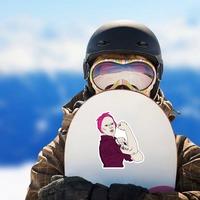 Fight Cancer Survivor Sticker on a Snowboard example