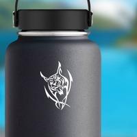 Fighting Lynx Sticker on a Water Bottle example
