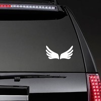 Finger Wings Sticker on a Rear Car Window example