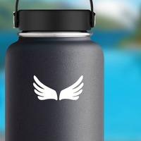 Finger Wings Sticker on a Water Bottle example