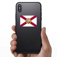 Florida Fl State Flag Sticker on a Phone example