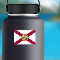 Florida Fl State Flag Sticker on a Water Bottle example