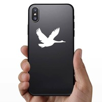 Flying Goose Sticker on a Phone example