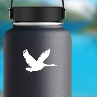 Flying Goose Sticker on a Water Bottle example