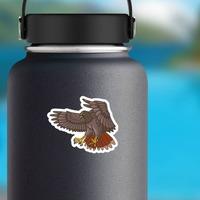 Flying Hawk Mascot Sticker on a Water Bottle example