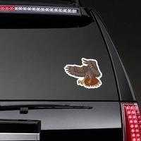 Flying Hawk Mascot Sticker on a Rear Car Window example
