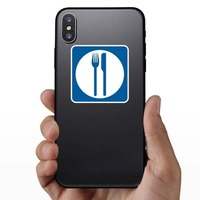 Food Services Sticker on a Phone example