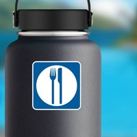 Food Services Sticker on a Water Bottle example