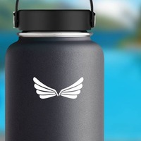 Four Layered Wings Sticker on a Water Bottle example