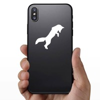 Fox Jumping Sticker on a Phone example