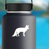Fox Silhouette Sticker on a Water Bottle example