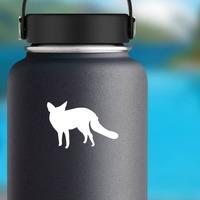 Fox Sticker on a Water Bottle example