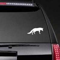 Fox Walking Sticker on a Rear Car Window example