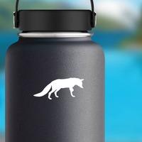 Fox Walking Sticker on a Water Bottle example