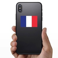 France Flag Sticker on a Phone example