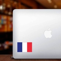 France Flag Sticker on a Laptop example