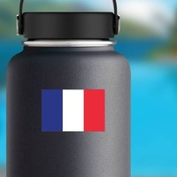 France Flag Sticker on a Water Bottle example
